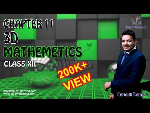Maths Class 12 - 3D Geometry Plane Chapter 11 (Part 1) Puneet Dogra   Study Khazana