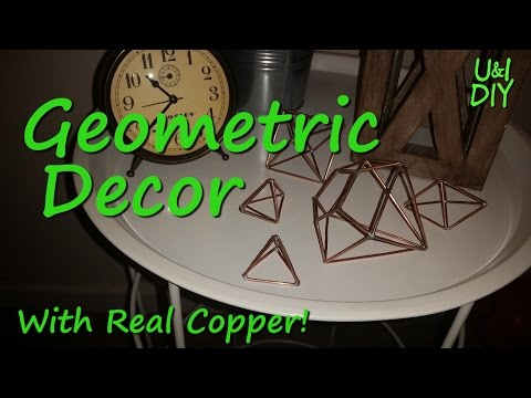 Copper Geometric Decor - DIY Tutorial