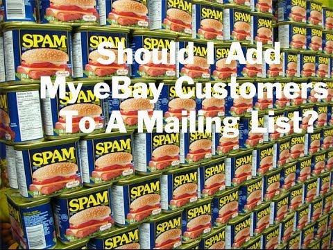 Should I Add My eBay Customers To A Mailing List?