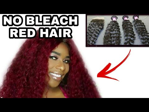 COLOR SERIES #2 | HOW TO DYE HAIR WITHOUT BLEACH 2017 | MAGENTA/RED | FT. KLAIYI HAIR