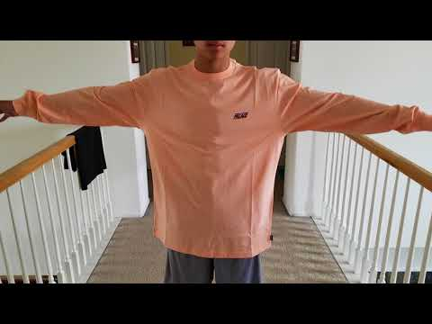 Wow! (4) Quadruple Unboxing PALACE Skateboards Basically L/S Tee + Try On! 5 27 18