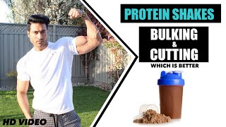 Protein Shakes for Bulking & Cutting - Know the Difference | Info by Guru Mann