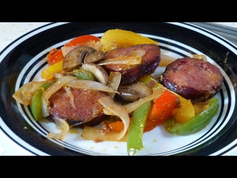 Cajun Andouille Sausage,Peppers,Onions,Mushrooms!