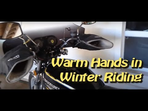 How to keep your hands warm on a motorcycle