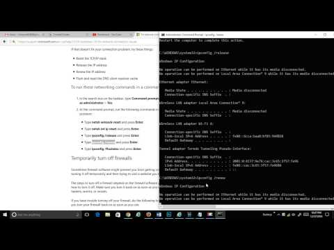 Windows 10 Run the Network troubleshooter followed by networking commands