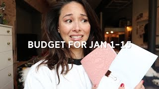 My Bi-Monthly Budget for January 2018 | How To Budget Your Money | Aja Dang