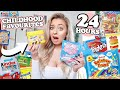 I ONLY Ate CHILDHOOD Foods For 24 HOURS