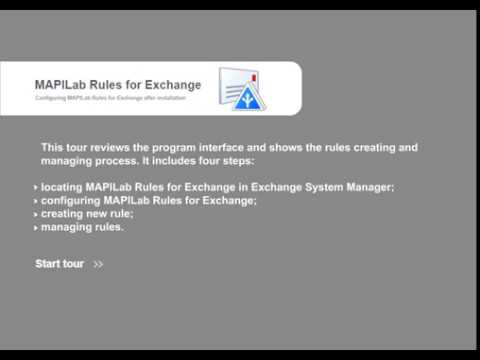 MAPILab Rules for Exchange tutorial