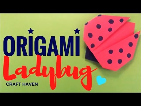 How-to Make Cute & Easy Origami Lady Bug For Beginners - #Origami Animals - Origami Easy Tutorial