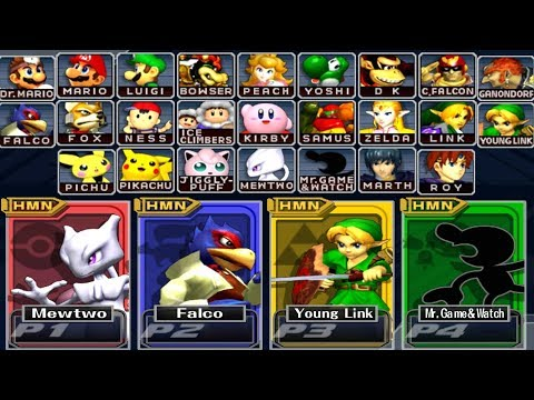 Super Smash Bros Melee - How to Unlock All Characters