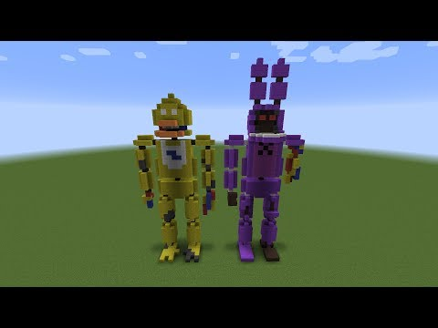 Minecraft Mini Build: FNAF Statues 1987 - Part 2