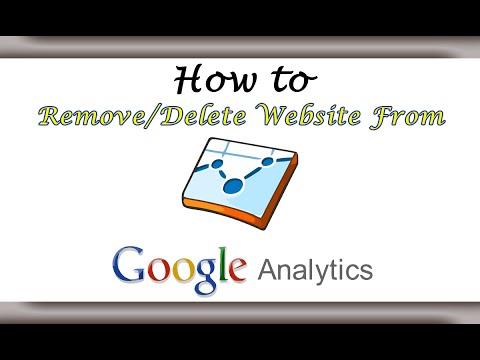 How to Delete Websites from Google Analytics?