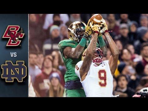 Boston College vs. Notre Dame Football Highlights (2015)