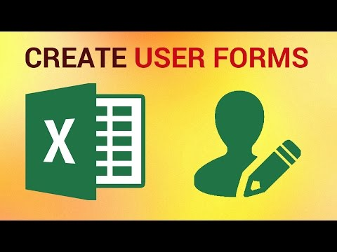 How to Create User Forms in Excel 2016