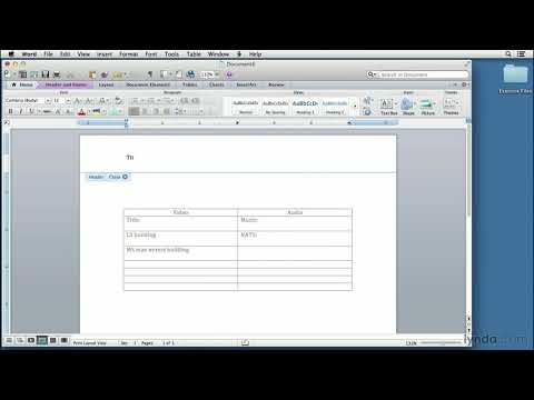 Video script writing tutorial: Setting up a two-column script in Word | lynda.com