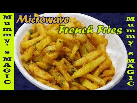 Spicy french fries in microwave | potato fries in microwave | mummy's magic