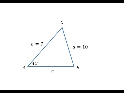 The Law of Sines - One Solution (SSA)