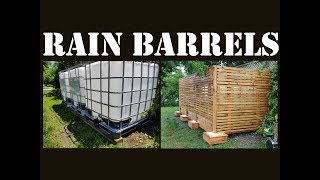 IBC tote water batteries and PEX plumbing to cabin part 1