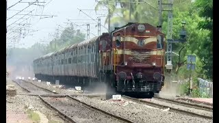 DOUBLE DIESEL THUNDER : KZJ ALCO Twins Fires with Pune - Bhubaneswar Express : INDIAN RAILWAYS