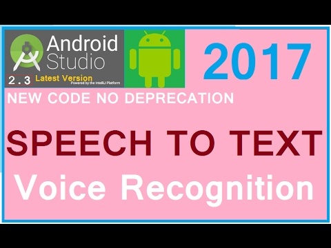 Android studio 3.0 tutorial. Recognition of voice in android apps. Android speech to text example.
