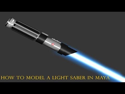 Maya Tutorial:How to model a lightsaber in maya part.1