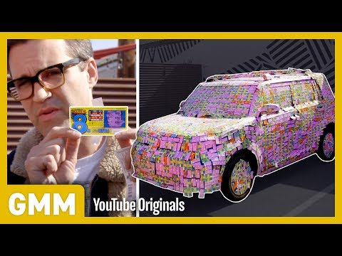 Covering A Car In $4,000 Scratch Off Lottery Tickets