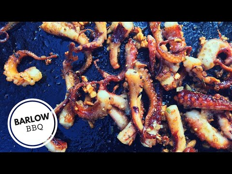BBQ Smoked Octopus on the Weber Kettle Grill using the Slow N Sear | Barlow BBQ