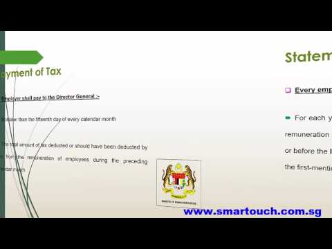 Payroll Malaysia and Tax : After Registration Tax File
