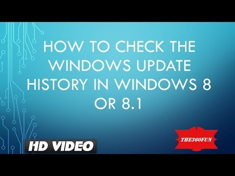 How to check the Windows Update History in Windows 8 / 8.1