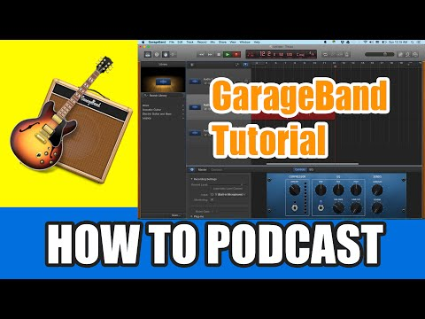 GarageBand Tutorial 2015 - How to Record a Podcast with GarageBand