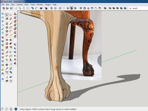sketchup(chippendale chair part 1)