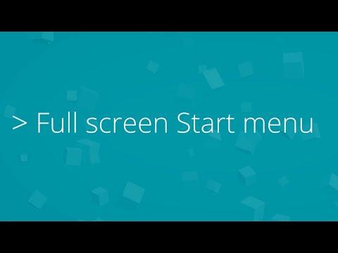 Get the Windows 8 start menu back in Windows 10