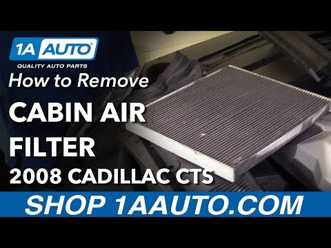 How to Remove Replace Cabin Air Filter 2008 Cadillac CTS