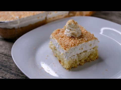 COCONUT TRES LECHES CAKE | TRES LECHES CAKE RECIPE WITHOUT OVEN