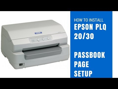 How to install Epson plq 20/30 With postal passbook page setup✔️