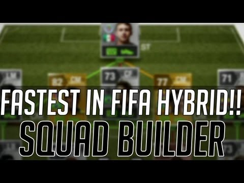 THE FASTEST AFFORDABLE HYBRID SQUAD w/ 99 CHEMISTRY | FIFA 13 Ultimate Team Squad Builder