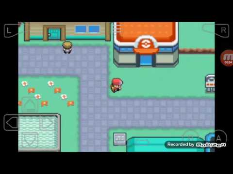 Pokemon super fire red colocando o cheats da Master ball e do doce raro ou Rare candy
