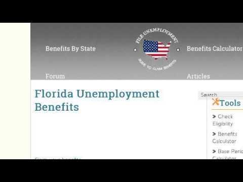 FLORIDA UNEMPLOYMENT BENEFITS