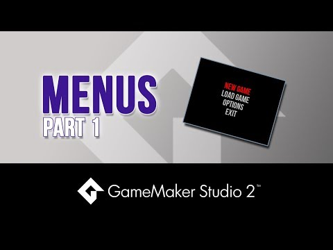Menus: Part 1 - Game Maker Studio 2