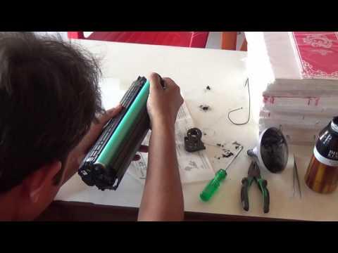 HP 1005 Printer Cortridge Refilling