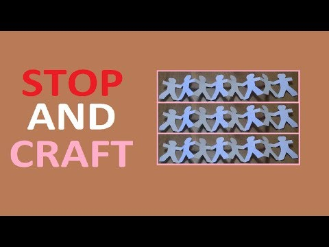 How to Make a Paper People Chain