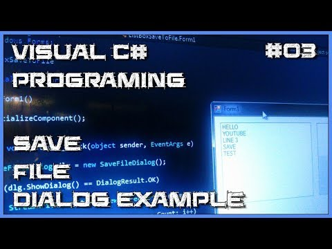 Visual C# 03 - How to save listBox items to text file