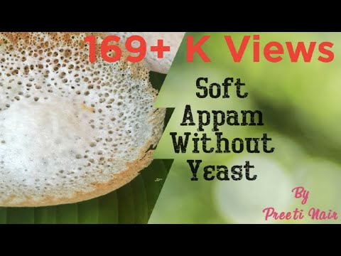 How to make soft  Appam without yeast/batter for palappam/live video of making the appam/no yeast