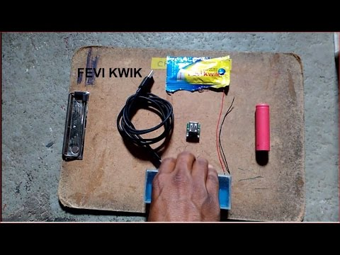 How to make portable charger from laptop battery