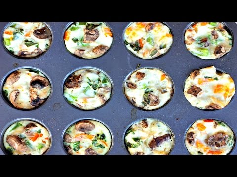 Breakfast prep: Healthy egg white muffins with sausage