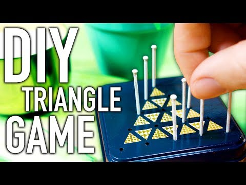 DIY Coffee Table Triangle Game for When You're Bored! - HGTV Handmade