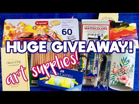 HUGE Spring COLORED PENCIL & Art Supply GIVEAWAY! [Tombow, Bruynzeel, Faber-Castell, Caran D' Ache]