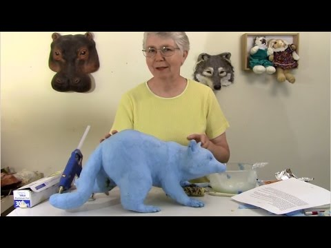 Paper Mache Raccoon Head Armature, and Paste - Part 4