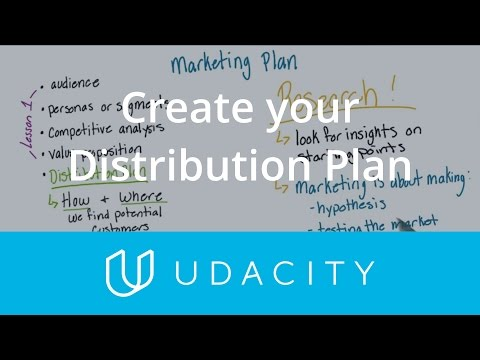 Create Your Distribution Plan | Pre-Launch | App Marketing | Udacity