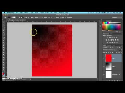 Photoshop Halftone for your Comic Background